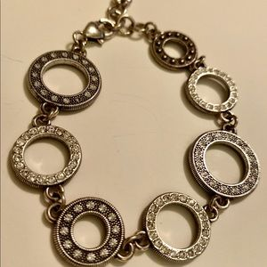 Brighton circles and rhinestones bracelet